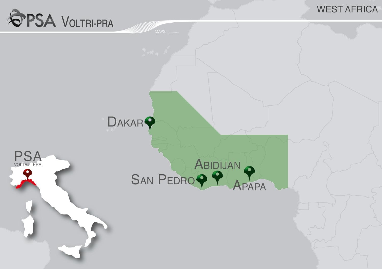 Italia Africa Occidenteale Connessioni Marittime