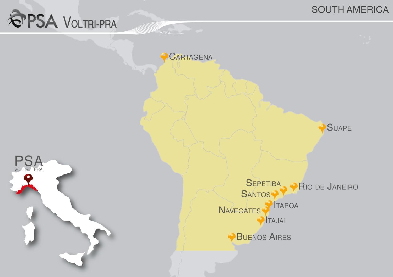 Italia Sud America Connessioni Marittime
